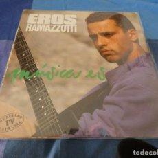 Discos de vinilo: EROS RAMAZZOTTI MUSICA ES VINILO EN BUEN ESTADO 1988 LP. Lote 209574320