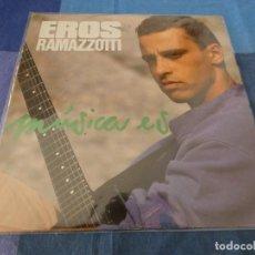Discos de vinilo: LP EROS RAMAZZOTTI MUSICA VINILO BUEN ESTADO UNA FIRMA EN PORTADA. Lote 209574421