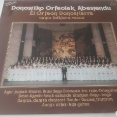 Discos de vinilo: VINILO DONOSTIKO ORFEOIAK ABESTENDU.. Lote 209580987