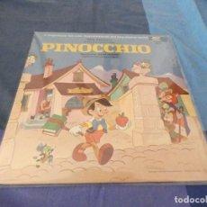 Discos de vinilo: ESPECTACULAR LIBRO CUENTO PINOCHO 1969 USA VINILO EN BUEN ESTADO DISNEYLAND RECORDS. Lote 209585326