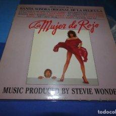 Discos de vinilo: LP BSO DE LA PELI LA MUJER DE ROJO BUEN ESTADO LOMO TOCADO. Lote 209586610