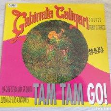 Discos de vinilo: GABINETE CALIGARI TAM TAM GO MAXI SINGLE 1993 GOLPES DELIRIOS DE GRANDEZA LO QUE SE DA NO SE QUITA. Lote 209587191