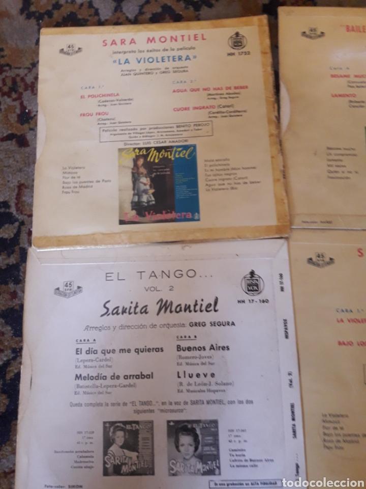 Discos de vinilo: Lote de 5 antiguos discos de Sara Montiel - Foto 3 - 209587628