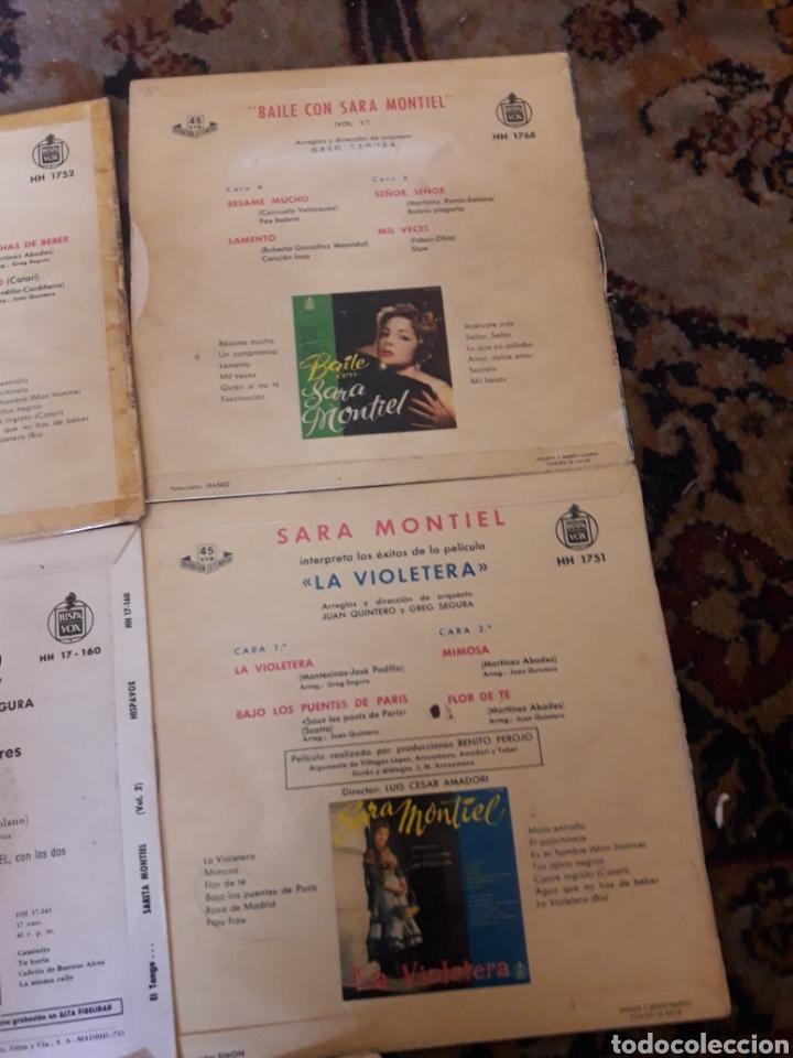 Discos de vinilo: Lote de 5 antiguos discos de Sara Montiel - Foto 4 - 209587628