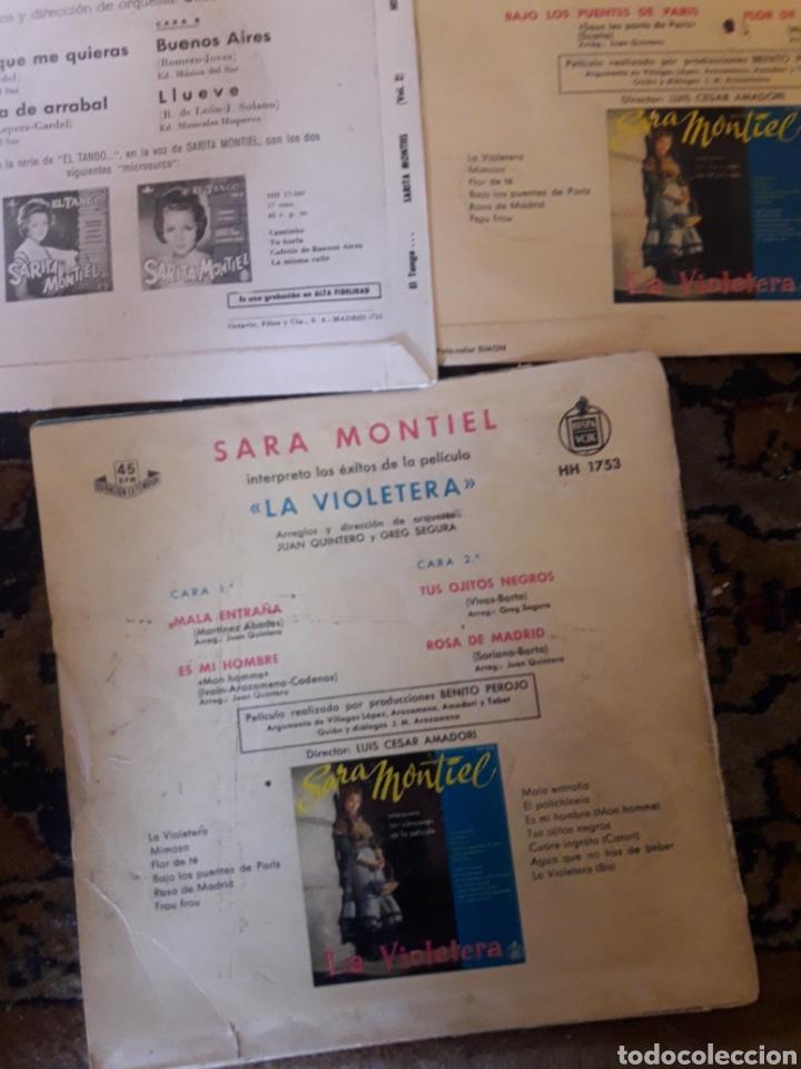 Discos de vinilo: Lote de 5 antiguos discos de Sara Montiel - Foto 5 - 209587628