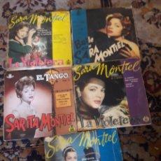 Discos de vinilo: LOTE DE 5 ANTIGUOS DISCOS DE SARA MONTIEL. Lote 209587628