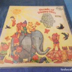Discos de vinilo: LP PRECIOSO UK 1971 PARADE OF DISNEY HITS BUEN ESTADO. Lote 209588042