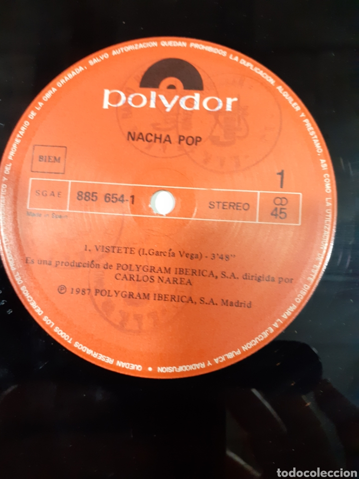Discos de vinilo: Disco vinilo nacha pop - máxi lp vístete - lucha de gigantes - buen estado - ver fotos - Foto 4 - 209593600