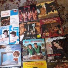 Discos de vinilo: LOTE DE 12 ANTIGUOS VINILOS, ARTISTAS ESPAÑOLES. Lote 209594621