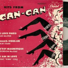 "Discos de vinilo: HITS FROM CAN CAN 7"" SPAIN EP 45 LES BAXTER KAY STARR GORDON MACRAE NAT KING COLE SINGLE VINILO 1954. Lote 209608461"