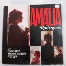 Discos de vinilo: AMALIA RODRIGUES. CANTIGAS NUMA LINGUA ANTIGA. GATEFOLD. 1977, PORTUGAL. E 07240447.. Lote 209612718