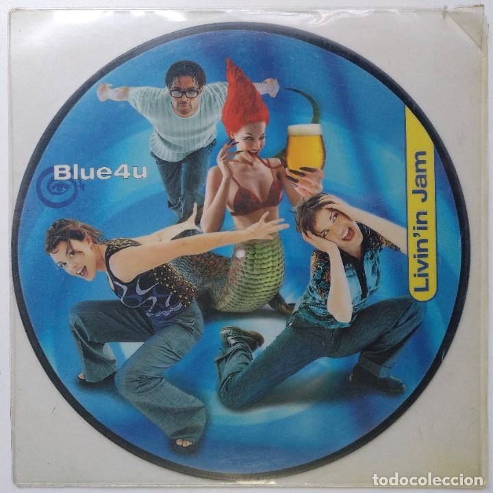 """BLUE4U - LIVIN'IN JAM [[[ VINILO ORIGINAL IMPRESO MX 12"""" 45RPM ]]] BLUE 4 U [[ MX DE 2 TEMAS 1999 ]] (Música - Discos de Vinilo - Maxi Singles - Disco y Dance)"""