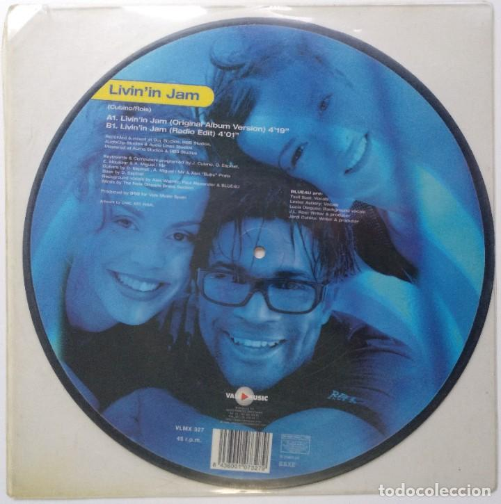 """Discos de vinilo: BLUE4U - LIVININ JAM [[[ VINILO ORIGINAL IMPRESO MX 12"""" 45RPM ]]] BLUE 4 U [[ MX DE 2 TEMAS 1999 ]] - Foto 2 - 209613997"""