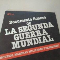 Discos de vinilo: DOCUMENTO SONORO DE LA SEGUNDA GUERRA MUNDIAL REF. UR. Lote 209646558