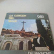 Disques de vinyle: DE RAYMOND LA CANCION DEL VALLE/ ESE HOMBRE SINGLE 1977 MUSIC VOX FRANCO VALLE CAIDOS REF. UR. Lote 209646760