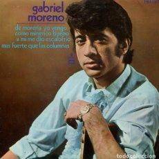 Discos de vinilo: GABRIEL MORENO / DE MORERIA YO VENGO + 3 (EP HISPAVOX 1970). Lote 288694128