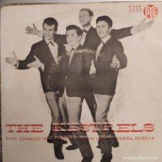 Discos de vinilo: THE KESTRELS: BAILA CONMIGO,RIO PEREZOSO,HAY UN LUGAR,PEQUEÑA ESTRELLA PYEP 1964. Lote 209673415