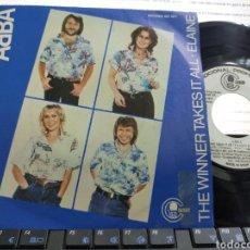 Discos de vinilo: ABBA SINGLE PROMOCIONAL THE WINNER TAKES IT ALL ESPAÑA 1980. Lote 209676868