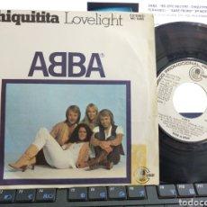 Discos de vinilo: ABBA SINGLE PROMOCIONAL CHIQUITITA EN INGLÉS ESPAÑA 1979. Lote 209693305