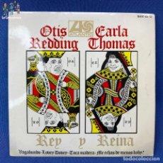 Discos de vinilo: SINGLE OTIS REDDING Y CARLA THOMAS - REY REINA - VAGABUNDO / LOVEY DOVEY - ESPAÑA - AÑO 1967. Lote 209702087