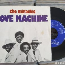 Disques de vinyle: THE MIRACLES - LOVE MACHINE PARTS. 1 & 2 (1976) SMOKEY ROBINSON. Lote 209711156