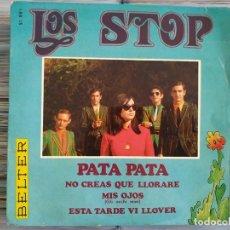 Discos de vinil: LOS STOP, PATA PATA, NO CREAS QUE LLORARE/ MIS OJOS/ ESTA TARDE VI LLOVER 1968. Lote 209712086