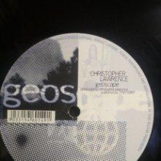 Discos de vinilo: CHRISTOPHER LAWRENCE GEOSPACE +1 MAXI PEPETO. Lote 209720797