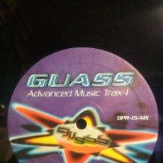 Discos de vinilo: GUASS ADVANCED MUSIC TRAX 1 ELGOIBAR GIPUZKOA MAXI DANCER PLANET RECORD MAXI 1996 PEPETO. Lote 209722303