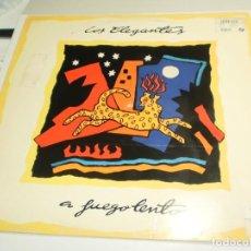 Discos de vinilo: LP LOS ELEGANTES. A FUEGO LENTO. DRO 1991 SPAIN CON INSERTO DE LETRAS (PROBADO Y BIEN). Lote 209728370