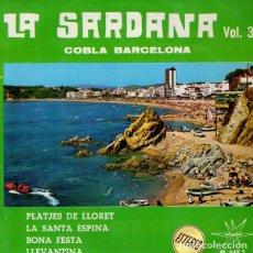 Discos de vinilo: COBLA BARCELONA, LA SARDANA VOL. 3, EP MARFER 1966 (PLATJES DE LLORET, LA SANTA ESPINA..... Lote 209728760