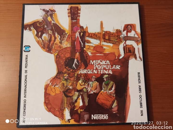Discos de vinilo: MÚSICA POPULAR ARGENTINA, ESTUCHE, TRES LPS, 1974, ÚNICOS, NESTLÉ, VER - Foto 2 - 209729335