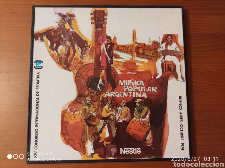 MÚSICA POPULAR ARGENTINA, ESTUCHE, TRES LPS, 1974, ÚNICOS, NESTLÉ, VER (Música - Discos - LP Vinilo - Étnicas y Músicas del Mundo)