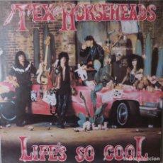 Discos de vinilo: TEX AND THE HORSEHEADS LIFE'S SO COOL ENIGMA RECORDS 1985. Lote 209736370