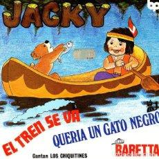 Discos de vinilo: LOS CHIQUITINES – JACKY / EL TREN SE VA / QUERIA UN GATO NEGRO / BARETTA - EP SPAIN 1979. Lote 209759196