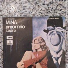 Discos de vinilo: MINA. AMOR MÍO. SINGLE VINILO BUEN ESTADO.. Lote 209771513