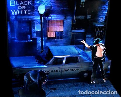 DIORAMA MICHAEL JACKSON BLACK OR WHITE - POP UP CD DISPLAY STAND - EDICION LIMITADA MAQUETA EN PAPEL (Música - Discos de Vinilo - Maxi Singles - Pop - Rock Internacional de los 90 a la actualidad)