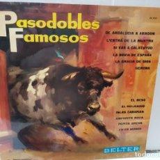 Discos de vinilo: LP-PASODOBLES FAMOSOS- EN FUNDA ORIGINAL 1966. Lote 209772382