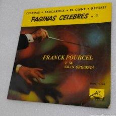 Discos de vinilo: FRANCK POURCEL Y SU ORQUESTA. PAGINAS CELEBRES 1. Lote 209776963