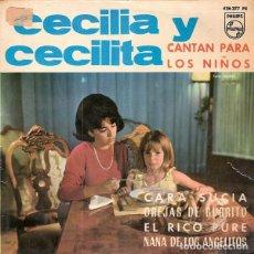 Discos de vinilo: CECILIA Y CECILITA - CARA SUCIA + 3 - EP PHILIPS 1965. Lote 209785197