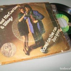 Discos de vinilo: PAUL MCCARTNEY & WINGS ( BEATLES ) .BAND ON THE RUN .. SINGLE DAPPLE - 1974 - EMI SPAIN. Lote 209794562