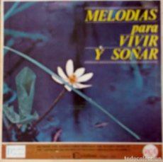 Discos de vinilo: MELODÍAS PARA VIVIR Y SOÑAR, VIOLINES DE ENSUEÑO,CANCIONES A MEDIA LUZ. CAJA 12 LPS+HOJAS PUBLICIDAD. Lote 209811522