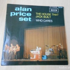 Discos de vinilo: ALAN PRICE SET, SG, THE HOUSE THAT JACK BUILT + 1, AÑO 1967 MADE IN FRANCE. Lote 209836630