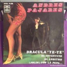 Discos de vinil: ANDRES PAJARES - DRÁCULA YE-YÉ - EP SPAIN 1968 RAREZA.. Lote 209845417