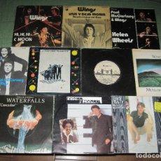 Discos de vinilo: THE BEATLES - PAUL MCCARTNEY WINGS - LOTE 10 SINGLES EDICIÓN ESPAÑOLA. Lote 209875252