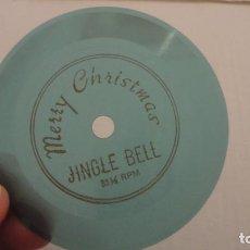 Discos de vinilo: ANTIGUO PEQUEÑO FLEXI DISC MERRY CHRISTMAS JINGLE BELL 33 RPM. Lote 209876666