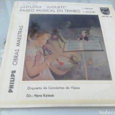 Discos de vinilo: SINFONÍA JUGUETE. PASEO MUSICAL EN TRINEO. SINGLE. Lote 209877540