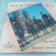 Discos de vinilo: BANDA DE TXISTULARIS. SINGLE.. Lote 209877710