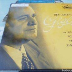 Discos de vinilo: BENIAMINO GIGLI. SINGLE.. Lote 209878025