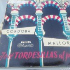 Discos de vinilo: JOSÉ TORDESILLAS AL PIANO. SINGLE.. Lote 209878301