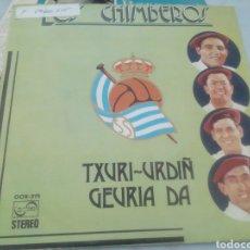 Discos de vinilo: LOS CHIMBEROS. TXURI URDIN GEURIA DA. SINGLE.. Lote 209878493